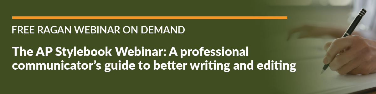 The AP Stylebook Webinar: a professional communicator's guide to better writing and editing